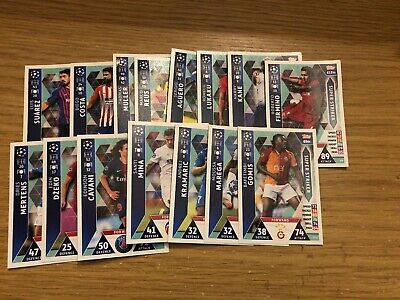 Match Attax Uefa Champions League 2018/19 Full Set Of Super Strikers Damaged