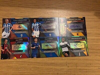 Match Attax Ultimate 2018/19 Set Of 6 Autograph Cards All Different Mint