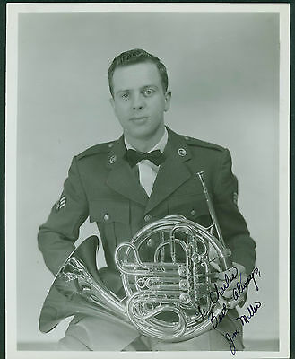 8 x 10 Photo French Horn Player Signed Jim Miller 1950's US Air Force Band Lowry