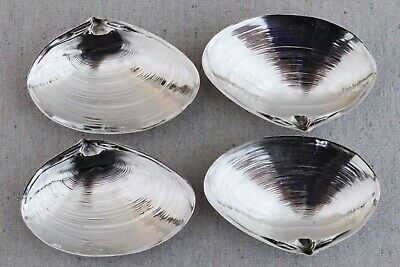 4 Wallace Sterling Silver Clam Shell Seashell Sauce Nut Dish Salt Cellars 4020