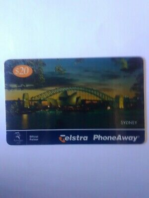 S20. Used Phoneaway Phonecard Sydney at Night 9902059PA