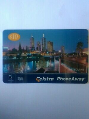$10 Used Phoneaway Phonecard Melbourne City Lights 9901061PA