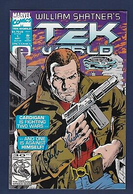 William Shatner signed 1992 Tek World Marvel comic book with Catch a Star Coa