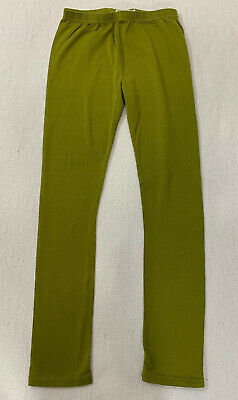 Adorable Essentials Girls Size 12 Leggings Olive Green Straight