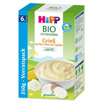 HiPP baby porridge cereal GLUTEN FREE  -ORGANIC-from 6th month-FREE SHIPPING