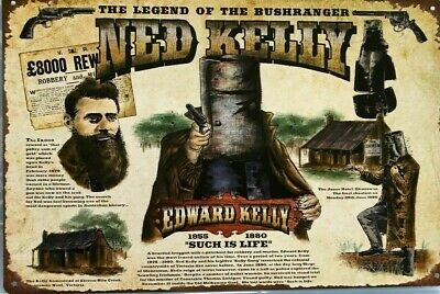 QUALITY CANVAS ART PRINT NED KELLY WANTED POSTER