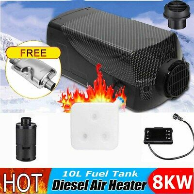 8KW 12V Diesel Air Heater LCD Switch 8000W Quiet For Trucks Boat Car Bus 5s