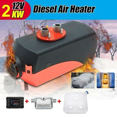 Chauffage Diesel Air Heater 2KW 12V avec Kit Voiture Camion Bus tY