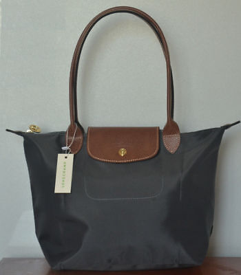 NEW Longchamp Le Pliage Graphite tote bag Nylon handbag  Large L