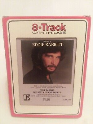 The Best Of Eddie Rabbitt Elektra 8 Track Tape   Hearts on Fire Every Which Way