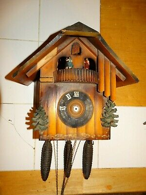 German cuckoo clock chalet with music box 3 Cones