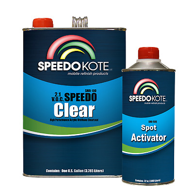 2.1 voc Extremely Fast Clear Coat, 4:1 mix Clearcoat Med Gallon Kit, SMR-100