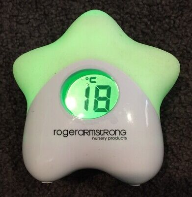 Roger Armstrong Sleep Easy Star Night Light & Room Thermometer