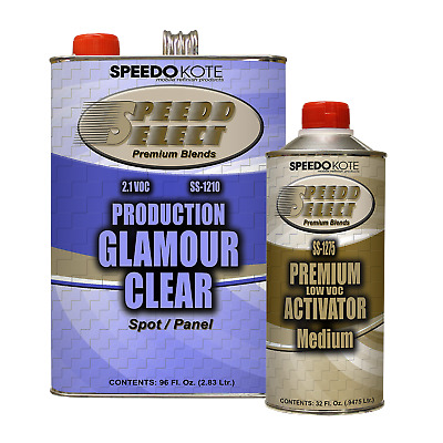 Production Glamour Clear Coat , 2.1 voc Gallon Kit w/ Medium Act., SS-1210/1275