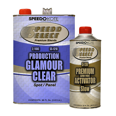 Production Glamour Clear Coat , 2.1 voc Gallon Kit w/ Slow Act., SS-1210/1290