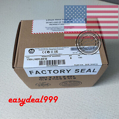 USA Factory Sealed Allen Bradley 1769-L16ER-BB1B CompactLogix 384KB FDA USA