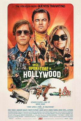 """ONCE UPON A TIME IN HOLLYWOOD 2019 Orig DS 2 Sided 27x40"""" US Movie Poster B Pitt"""