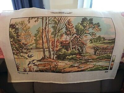 VINTAGE  UNWORKED.  Tapestry Needlepoint Canvas, Creations MARGOT de paris