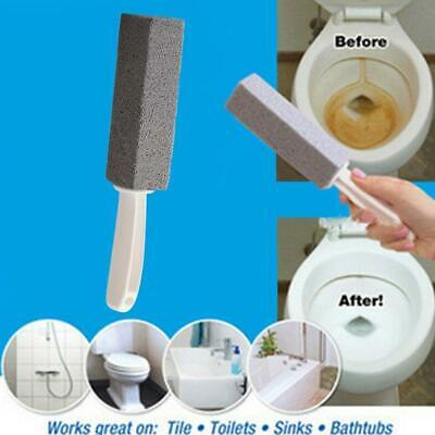 Pumice Stone Toilet Bowl Cleaner Cleaning Brush Wand Water Natural Remover Top