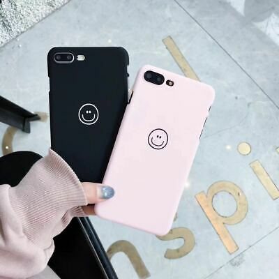Shockproof Matte Hard Back Cute Smile Face Case Cover For iPhone X 6s 7 8 Plus