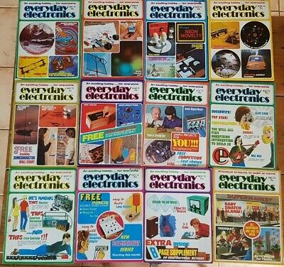 Everyday Electronics Vintage Magazine 1973 - Full Year - All 12 Issues