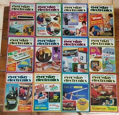 Everyday Electronics Vintage Magazine 1976 - Full Year - All 12 Issues