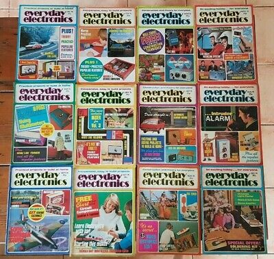 Everyday Electronics Vintage Magazine 1975 - Full Year - All 12 Issues