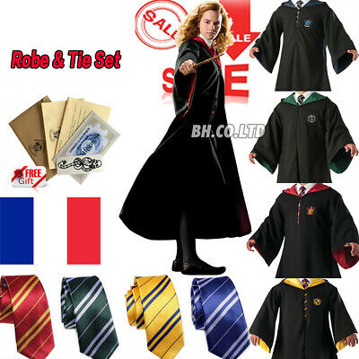 Harry Potter Serpentard Cravate Halloween Carnaval Cosplay Costume Cape Robe