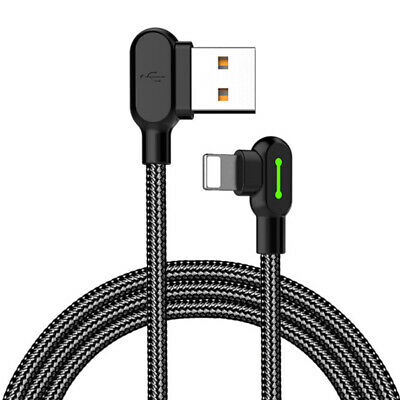 Heavy Duty Braided Lightning USB Charger Cable 1.2M 1.8M 3M For iPhone X8 7 6 5