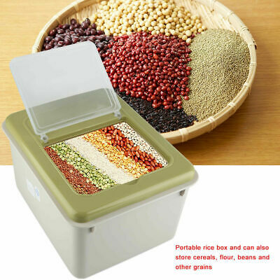 10kg Airtight Dry Food Flour Grain Container Cereal Rice Storage Box Bin Kitchen