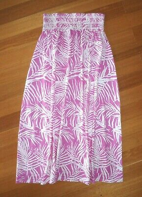 ROXY Ladies 8 Pink/White Leaf Pattern skirt