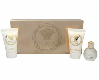 Versace Eros Pour Femme Miniature Gift Set of 3 For Her(5ml EDT + 25ml SG + 25BL