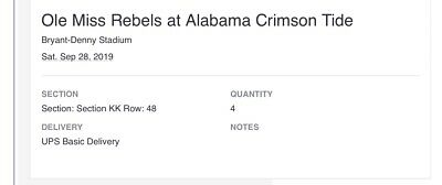 University Of Alabama vs. Ole Miss