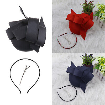 Elegant Headband Vintage Light Weight and Flower Headwear with Red Blue Black