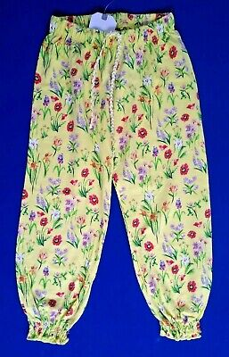 NEXT Girls Traveller Pants NEW Harem Trousers Floral Cotton Age 1 2 3 4 5 Years