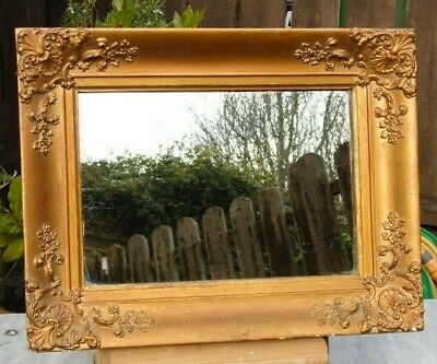 Antique Gilded Gesso and Wood Picture / Mirror Frame 34cm x 45cm