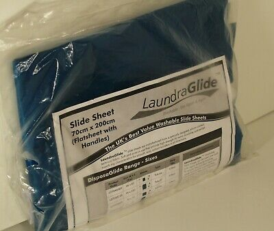 LAUNDRA GLIDE LAUNDERABLE WASHABLE SLIDE SHEET 70cm x 200cm WITH HANDLES