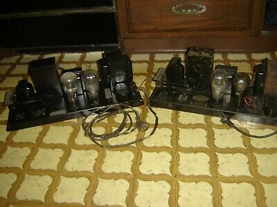 TWO VINTAGE 1928 WESTERN ELECTRIC ERA 250 TRIODE OUTPUT AMPS  281 rectifiers