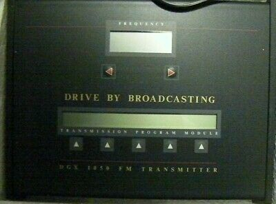 Drive by Broadcasting FM Transmitter; used briefly, but in NEW condition!