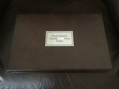 Danbury Mint Wood Display Case ( Uncirculated Classic American Coins ) book map