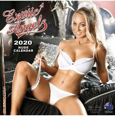 EXOTIC ANGELS 2020 Square Wall 12 Month Calendar 30cm x 30cm - Nude Models New