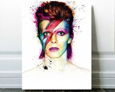 David Bowie Poster Print Aladdin Sane Wall Art Graffiti Art Canvas Art Bowie Art