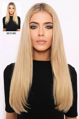 "Lullabellz Thick 18"" 1 Piece Straight Clip In Hair Extensions - Warm Brunette"