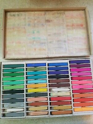 Vintage Weber Costello Alphacolor Pastels, Box of 48