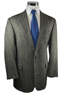 Brooks Brother Tan Houndstooth 100% Camelhair 2-Btn Sport Coat Blazer Jacket 43L