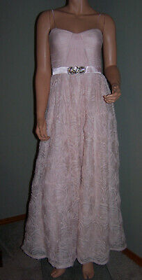 Adrianna Papell Dusty Rose Pink Cap-Sleeve Beaded Embellished Gown NWT 4 6 8