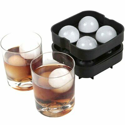 Large Ice Cube Tray Ball Maker Big Rubber Mold Sphere Whiskey DIY Round Mould EU
