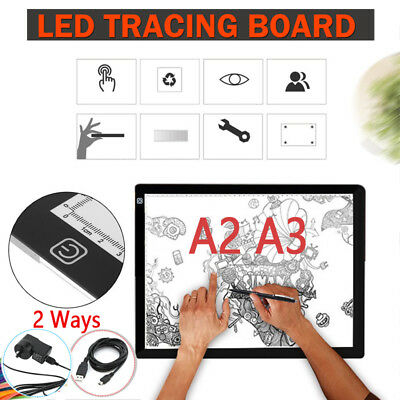 Ultra Thin A3 A2 LED Board Craft Tracing Drawing Stencil Table Pad Light Box 7f