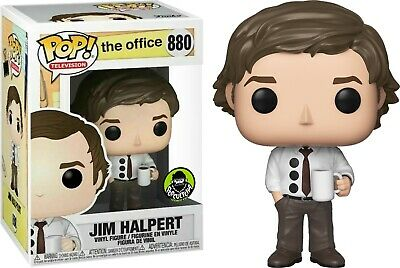 Funko Pop! The Office Jim Halpert 3-Hole Punch Popcultcha W/ Protector IN HAND
