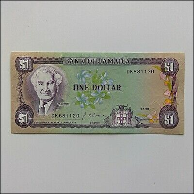 Bank Of Jamaica One Dollar $1 1990 Banknote (AP13)